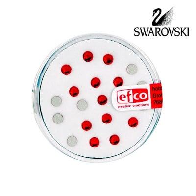 Кристали Swarovski, едностранно плоски, ф 3 mm, 20 бр., светъл сиам
