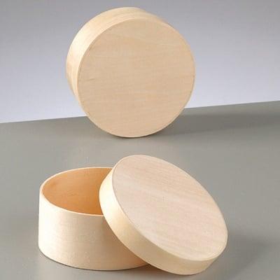 Кутия, кръгла, ф82 mm h40 mm, натурална