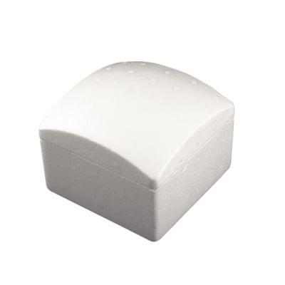 Кутия квадратна издута от стиропор, бял, 130 x 130 mm