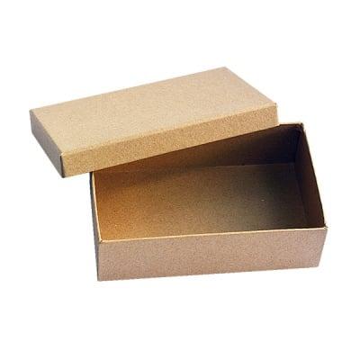 Кутия от папие маше, 16,5 x 10,5 x H 5 cm