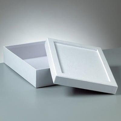 Кутия за декориране от картон, Mosaix, правоъгълник, 20 x 15 x 6 cm, бяла