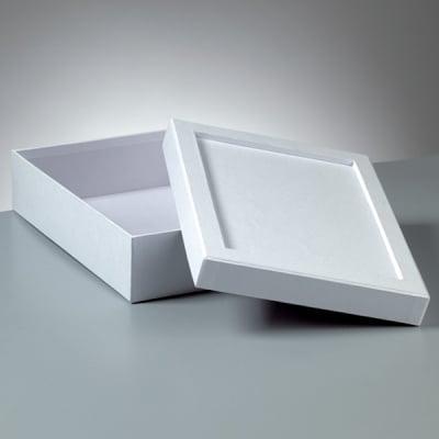 Кутия за декориране от картон, Mosaix, правоъгълник, 23 x 17 x 6 cm,бяла