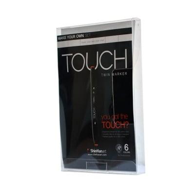 Кутия за маркери TOUCH TWIN, 6 маркера, празна