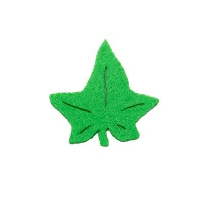 Деко фигурка бръшлянов лист. Filz. 50 mm. зелен