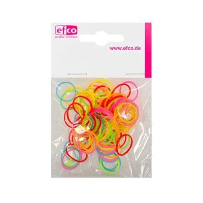 Ластички за плетене на гривни Rubber Loops, 100 бр., неоноворазноцветни