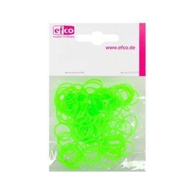 Ластички за плетене на гривни Rubber Loops, 100 бр., неоновозелени