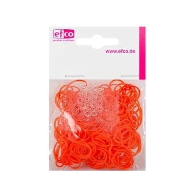 Ластички за плетене на гривни Rubber Loops, 300 бр., оранжеви