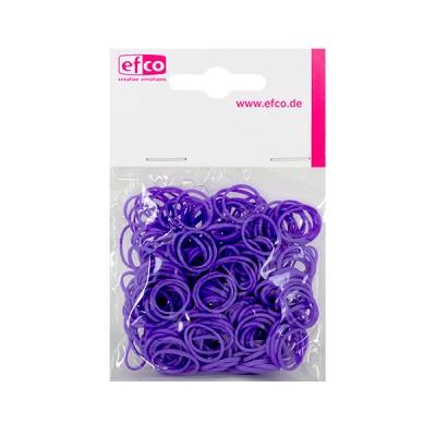 Ластички за плетене на гривни Rubber Loops, 300 бр., пурпурни