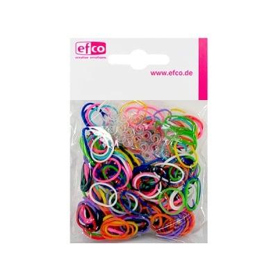Ластички за плетене на гривни Rubber Loops, 300 бр., разноцветни
