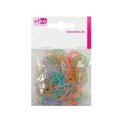 Ластички за плетене на гривни Rubber Loops, 300 бр., разноцв.светещи