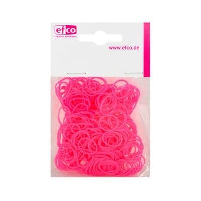 Ластички за плетене на гривни Rubber Loops, 300 бр., яркорозови