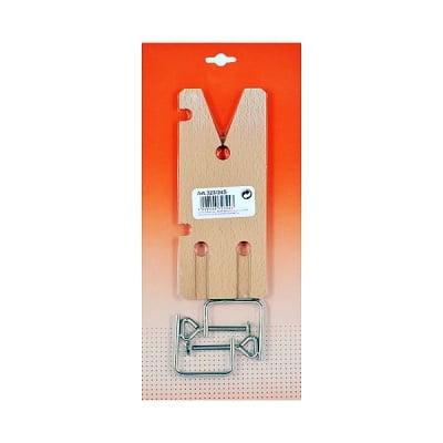 Дървена дъска за рязане с две скоби