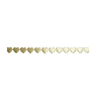 Лента с 3D мотиви, 10 mm, 2m, сърчица, кремава