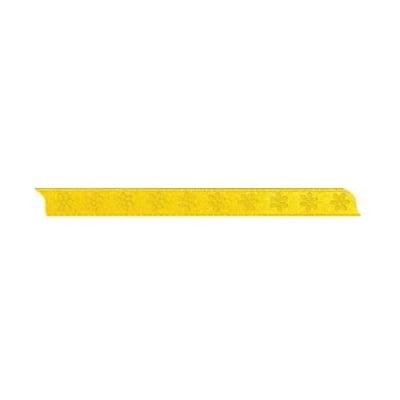 Лента с мотив, 10 mm, 5m, жълта с цветчета