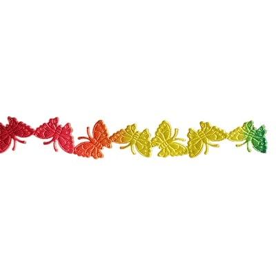 Лента сатенена самозалепяща, 18 mm, 15m, пеперуди дъга