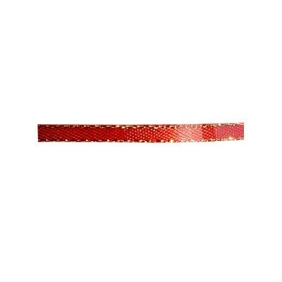 Лента сатенена със златен кант, 3 mm, 10m
