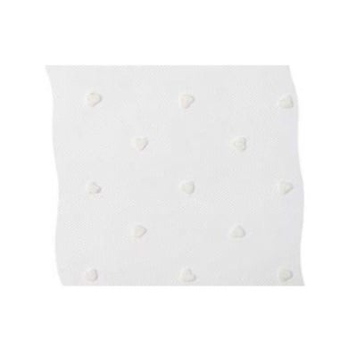 Лента тюл, 100 mm, 50m, бяла на сърчица