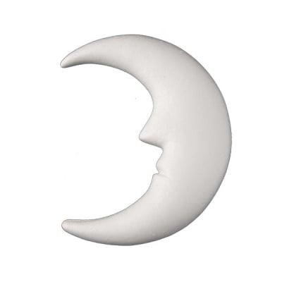 Луна от стиропор, бял, H 230 mm