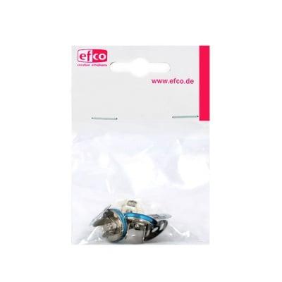 Магнитен обков за чанти, ф 15 mm, 2 броя, сребрист