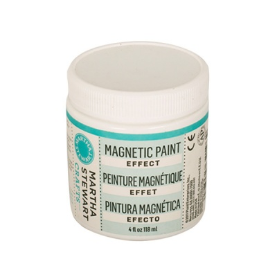 Магнитна боя Martha Stewart, Magnetic paint effect, 118 ml