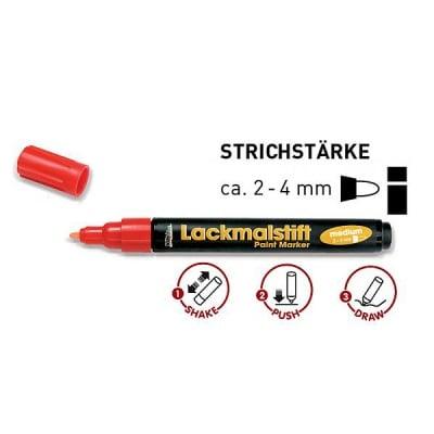 Маркери лак, връх-заоблен 1-2 / 2-4 mm