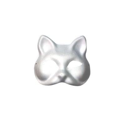 Маска, котка, 17 х 16,5 см, бяла