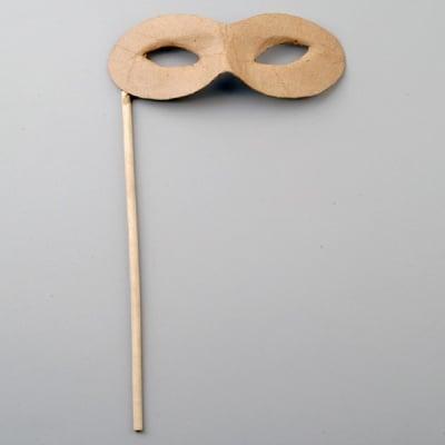 Маска от папие маше, домино, 7 x 17 / 22 cm