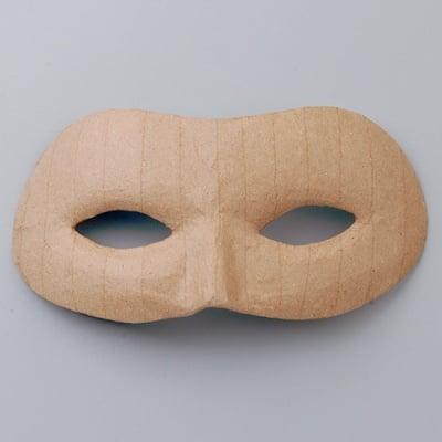 Маска от папие маше, домино, 9,5 x 21,5 cm
