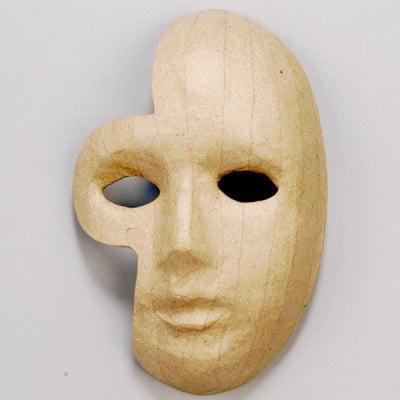 Маска от папие маше, фантом, 1, 21 x 13,5 cm