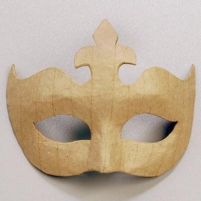 Маска от папие маше, корона, 14 x 17 cm