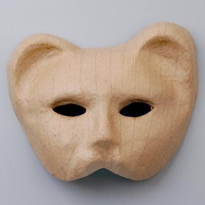 Маска от папие маше, коте, 17 x 20,5 cm