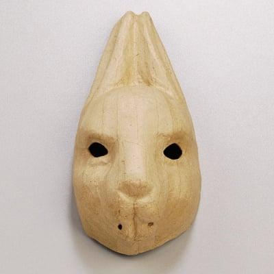 Маска от папие маше, заек, 27,5 x 13,5 cm