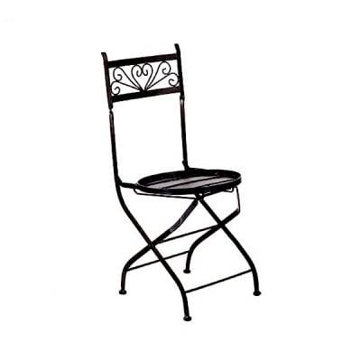 Метален стол Mosaix, 38 x 43 x 90 cm, черен