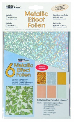 Металик трансферно фолио, Metallic Effect Folien Set Glamour