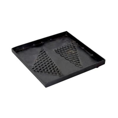 Метална квадратна поставка Mosaix, 20 x 20 x 3,3 cm, черна
