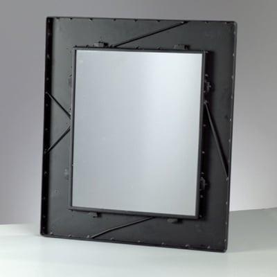 Метална рамка с огледало Mosaix, правоъгълно, 45 x 52 cm, черно