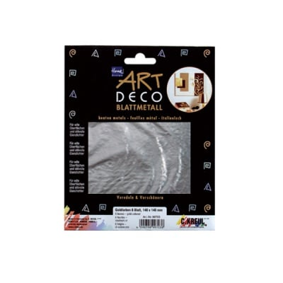 Метални листи ART Deco, 140 х 140 mm, 25л, сребро