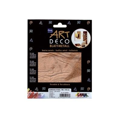 Метални листи ART Deco, 140 х 140 mm, 6л, мед
