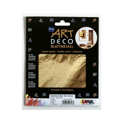 Метални листи ART Deco, 140 х 140 mm, 6л, злато