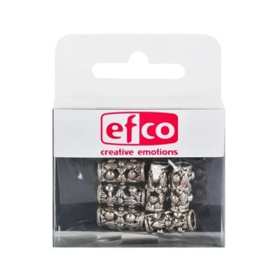 Метални перли, 15 x 6 mm, 6 бр., старо сребро