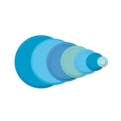 Метални шаблони за изрязване на хартия, кръгли SM, ~ ф 2,3 - 9,5 cm,