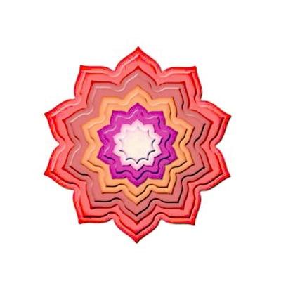 """Метални шаблони за изрязване на хартия """"Nestabilities"""", цвете, ~ ф 3 – 10,2 cm"""