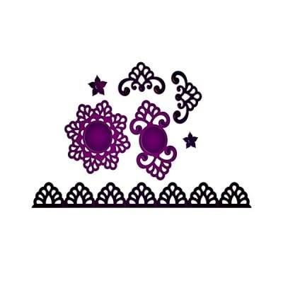 """Метални шаблони за изрязване на хартия """"Shapeabilities"""", ~ 1,3 x1,3 - 22,9 x 2,2 cm"""