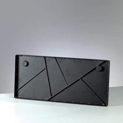 Метално правоъгълно пано Mosaix, 50 x 23 cm, черно