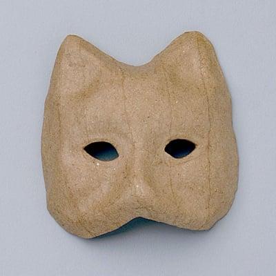 Мини маска от папие маше, котка, 8,5 x 7,5 x 2 cm