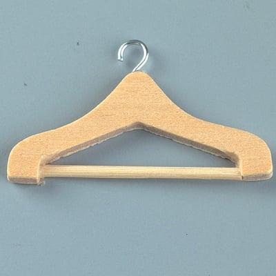 Дървена закачалка за дрехи - миниатюра, 5 cm, 4 бр.
