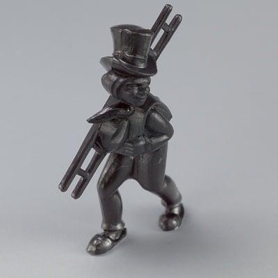 Миниатюра, коминочистач, 40 mm, 3 бр., черен