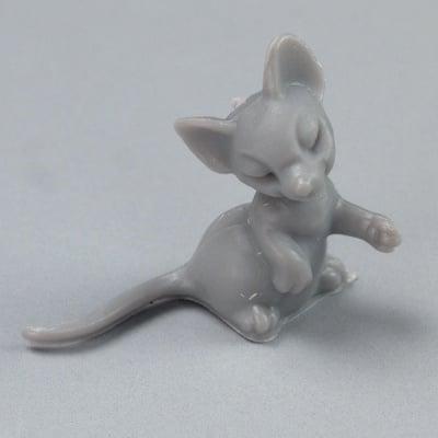 Миниатюра, мишка, 25 mm, 4 бр., сива