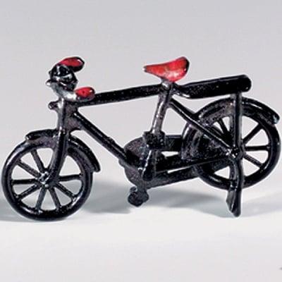Миниатюра, велосипед, 50 х 30 mm, черен