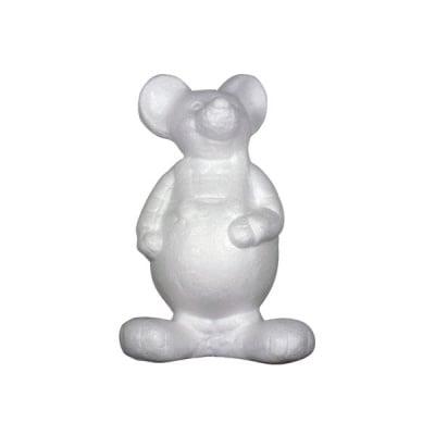 Мишка от стиропор, бял, H 210 mm